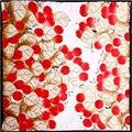 100% Шелковый Шарф Женщин Шарф Красный Фрукты Хиджаб Печати Цветок Среднего площадь Шелковый Шарф 2017 Горячий Женский Ближний Бандана Подарок для Леди