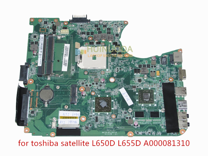 NOKOTION A000081310 Laptop Motherboard For toshiba satellite L750D L750 L755D DA0BLFMB6E0 ATI 7400M DDR3 Mainboard full tested nokotion 646176 001 laptop motherboard for hp cq43 intel hm55 ati hd 6370 ddr3 mainboard full tested