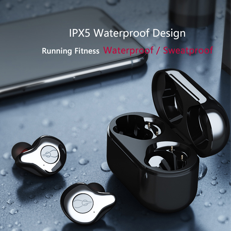 Image 3 - Super Bass In ear Warterproof IPX7 Bluetooth 5.0 Earphone Mini True Wireless With Dual-in Bluetooth Earphones & Headphones from Consumer Electronics