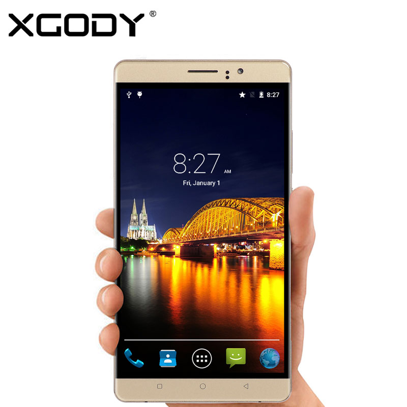 XGODY Y10 6 inch Smartphone Android 5 1 MTK6580 Quad Core 512MB 1GB RAM 4G 8GB