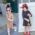 spring child clothes girl dress baby autumn long sleeves shirt dresses children clothing kids DOT dress