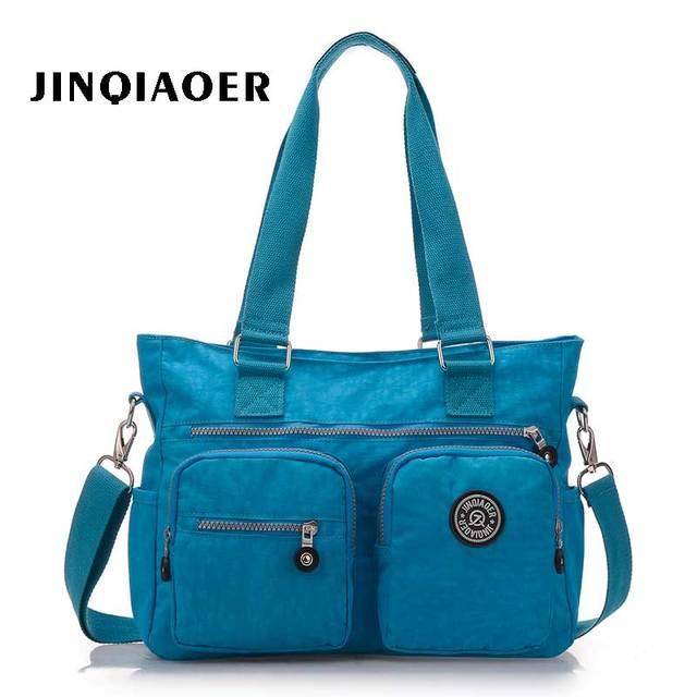 Mulheres bolsa de viagem da moda casuais ombro saco Portátil das mulheres à prova d' água pano de nylon saco do mensageiro saco de multi bolso