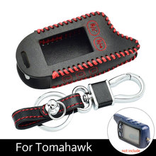 TZ9030 Leather Case Cover Fob Key For Tomahawk TZ9030-24V TZ9031 TZ7010 TZ9020 Car Alarm Remote Control LCD Transmitter цена в Москве и Питере