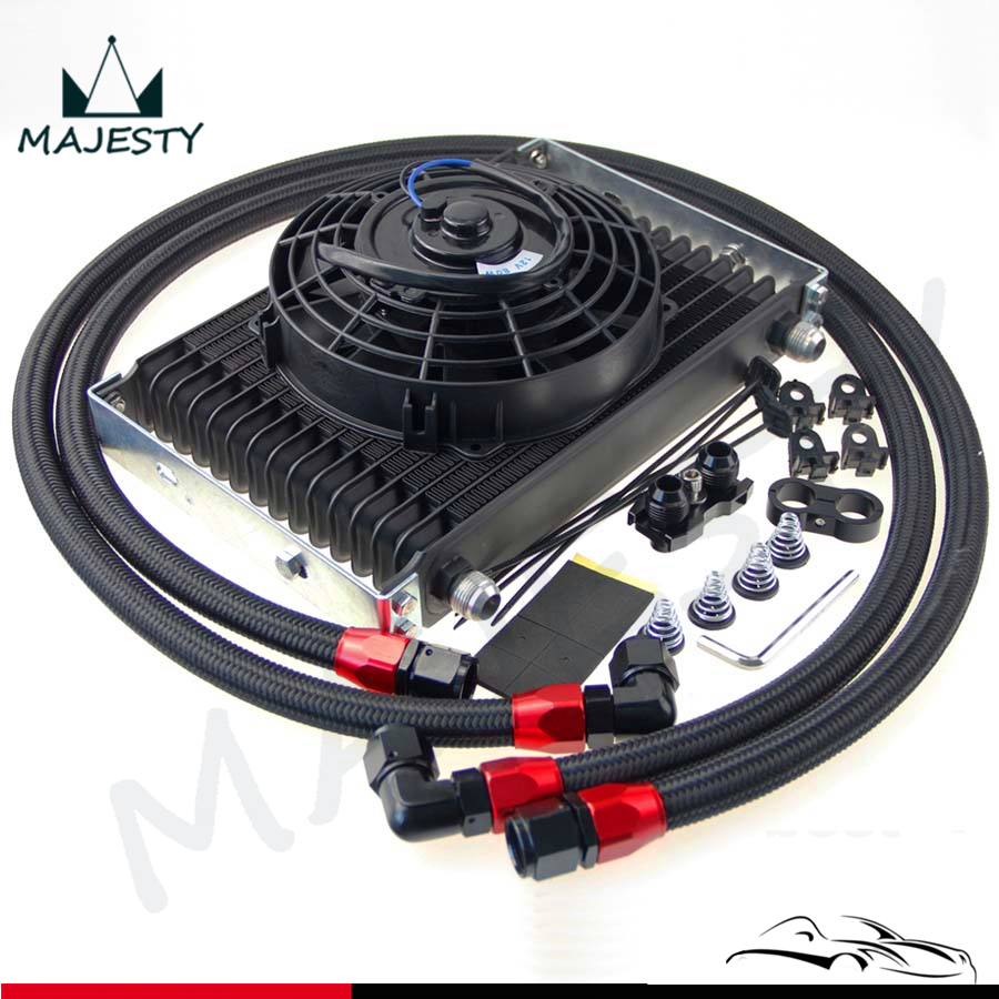 hight resolution of an10 15 row oil cooler 7 electric fan kit for bmw e36 e46 135 e90 335