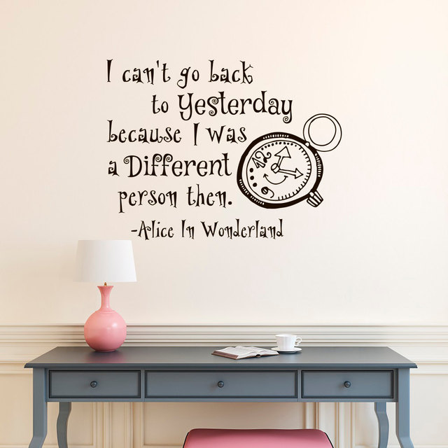 Alice In Wonderland Wall Decals, Vinyl Wall Sticker For Kids Room Nursery  Baby Bedroom Decor
