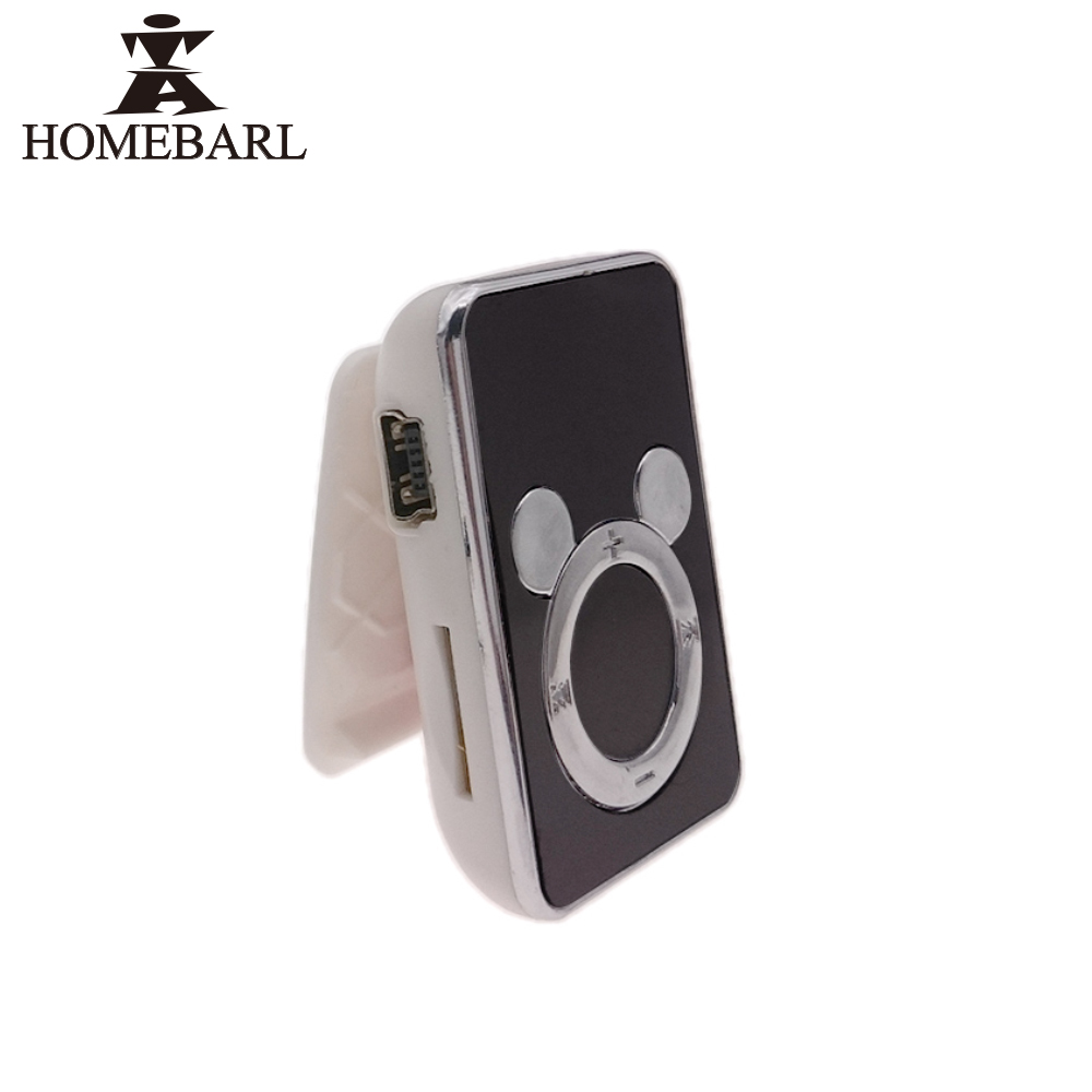 HOMEBARL Metal Clip MP3 Classical / Plastic Clip Cute MP3 Player . With Micro SD TF Card Slot New Hot Sale Sport Music Players