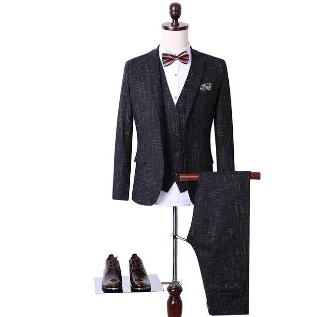 Men Suits Large size 2016 New Brand Wedding Dress Men Business Vintage Royal Wedding Suit Groom Men Suit Slim Fit Suit