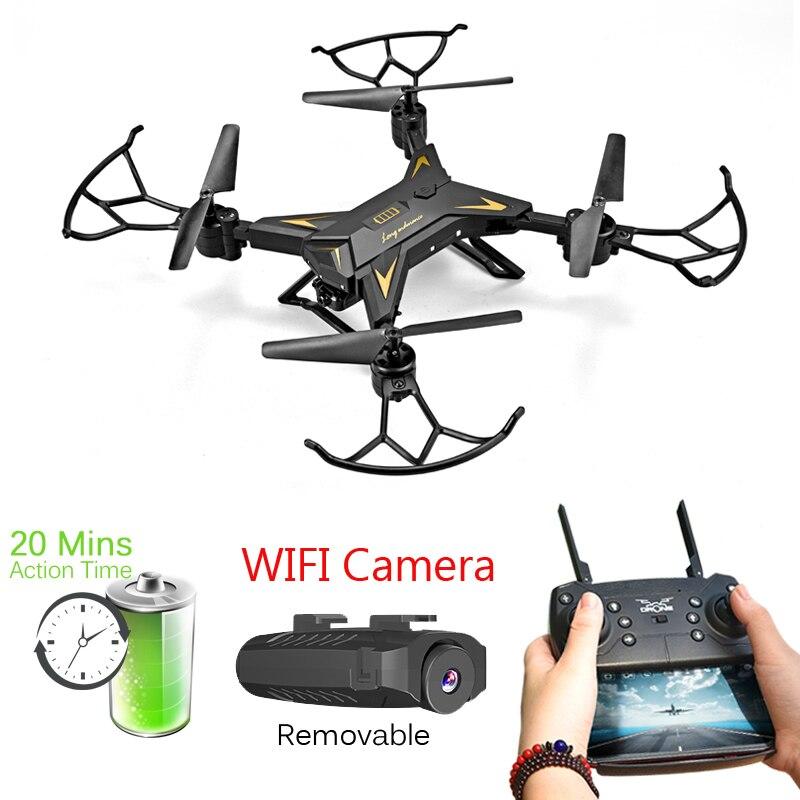 T-Rex Elicottero RC Drone con la Macchina Fotografica HD 1080 p WIFI FPV Selfie Drone Professionale Pieghevole Quadcopter circa 20 minuti di Durata Della Batteria