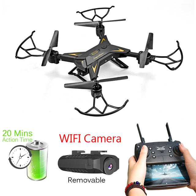 T-Rex RC Helicopter Drone with Camera HD 1080P WIFI FPV Selfie Drone Professional Foldable Quadcopter about 20mins Battery Life