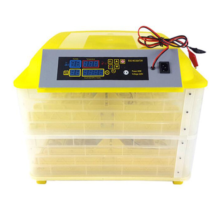 Cheap Price 12V 220V Poultry Hatchery Machine 96 Digital Temperature Full Automatic Egg Incubator for Chicken