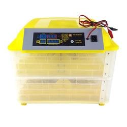بسعر رخيص 12 فولت 220 فولت ماكينة تفريخ الدواجن 96 درجة حرارة رقمية حاضنة بيض أوتوماتيكية بالكامل للدجاج البط السمان الببغاء