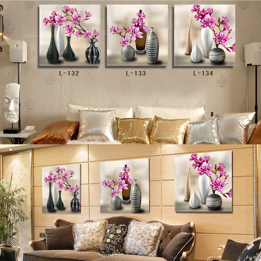 Framed wall art modern home decoration 3 piece canvas wall for House decoration pieces