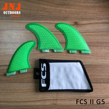 Brand new 2016 High quality FCS II fins with fiberglass honey comb material for surfing (Tri-set)G5 M FCS 2 with bag