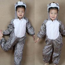 Cartoon Animal Leopard Pajama Costumes Performance Clothing Suit Childrens Day Halloween Costume for Child Kids