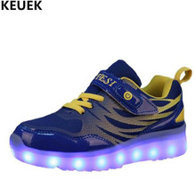 New Children Shoes LED Glowing Shoes Boys Girls USB Charging Luminous Light Shoes Baby Student Sneakers Kids Flats 018 kids shoes led glowing sneakers children 7 colors light up luminous sole girls boys casual shoes kids usb charging sneakers