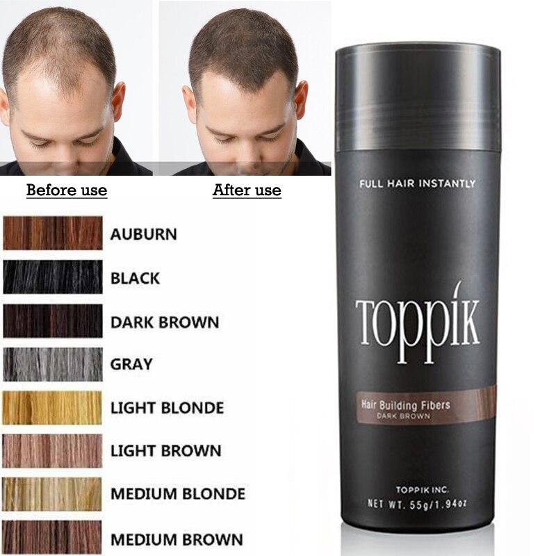 Salon Beauty Makeup Puff 27.5g Toppik Hair Building Fiber Keratin Hair Styling Tonic Coloring Powder Hair Loss Concealer Blender