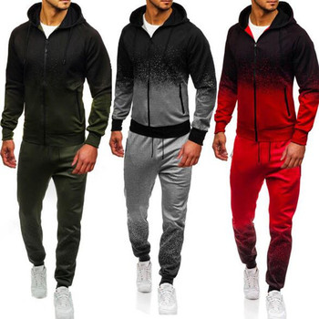 Men Sets Sports Brand Tracksuit New Fashion Spring Autumn Print Mens Set Cotton Male Sweatshirt +Sweatpants 2 Pieces Clothing