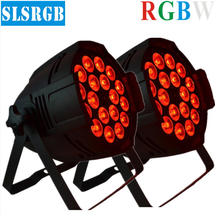2pcs/lot Stage Lighting 18X12W RGBW 4in1 Quad DMX LED Par light Wash effect UP lighting Wedding concert Music Stage Disco Party