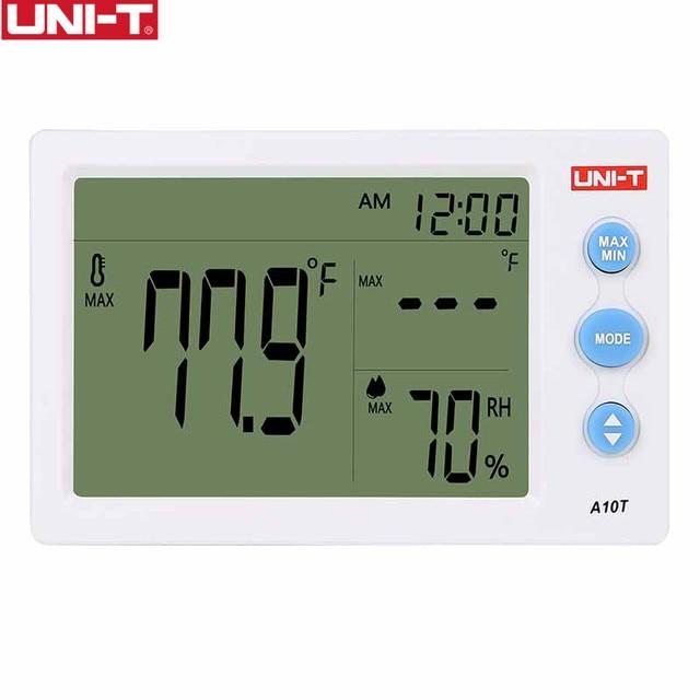 UNI-T A10T numérique lcd thermomètre humidité compteur horloge hygromètre de Station météo testeur avec fonction réveil