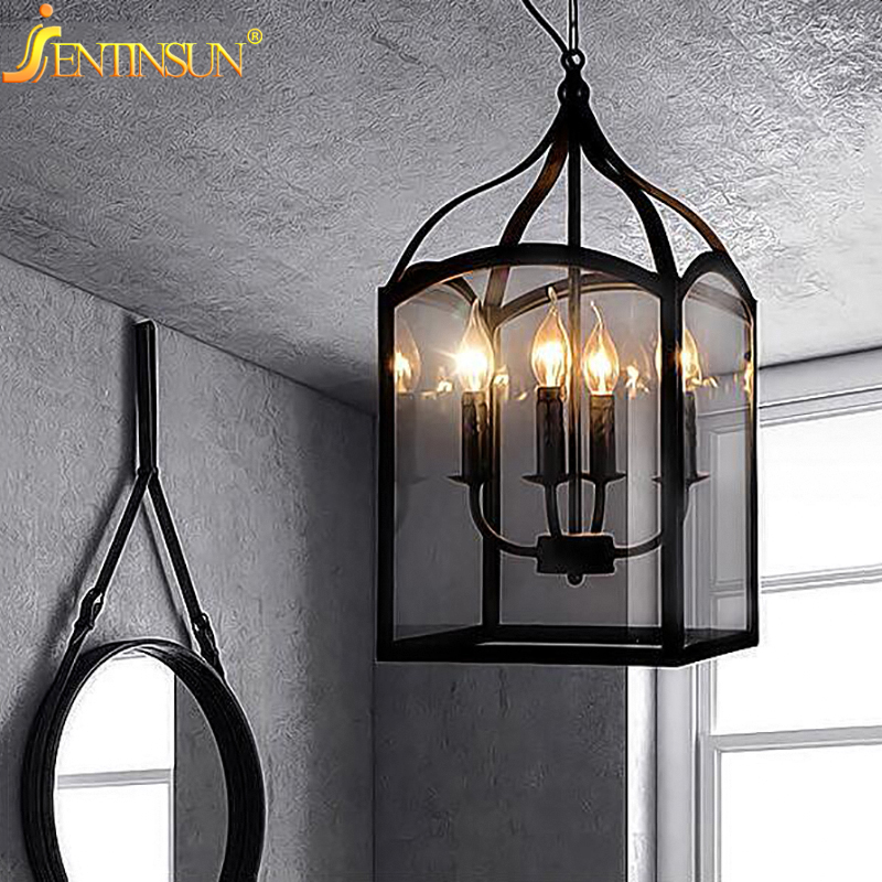 Nordic Europe Glass Cage Pendant Light Loft Vintage Birdcage Lights Lamp Metal Glass Hanging Lamps Fixture For Coffee Shop Bar vintage iron pendant light industrial lamps e27 cage pendant lamp hanging lights fixture with glass guard indoor lighting