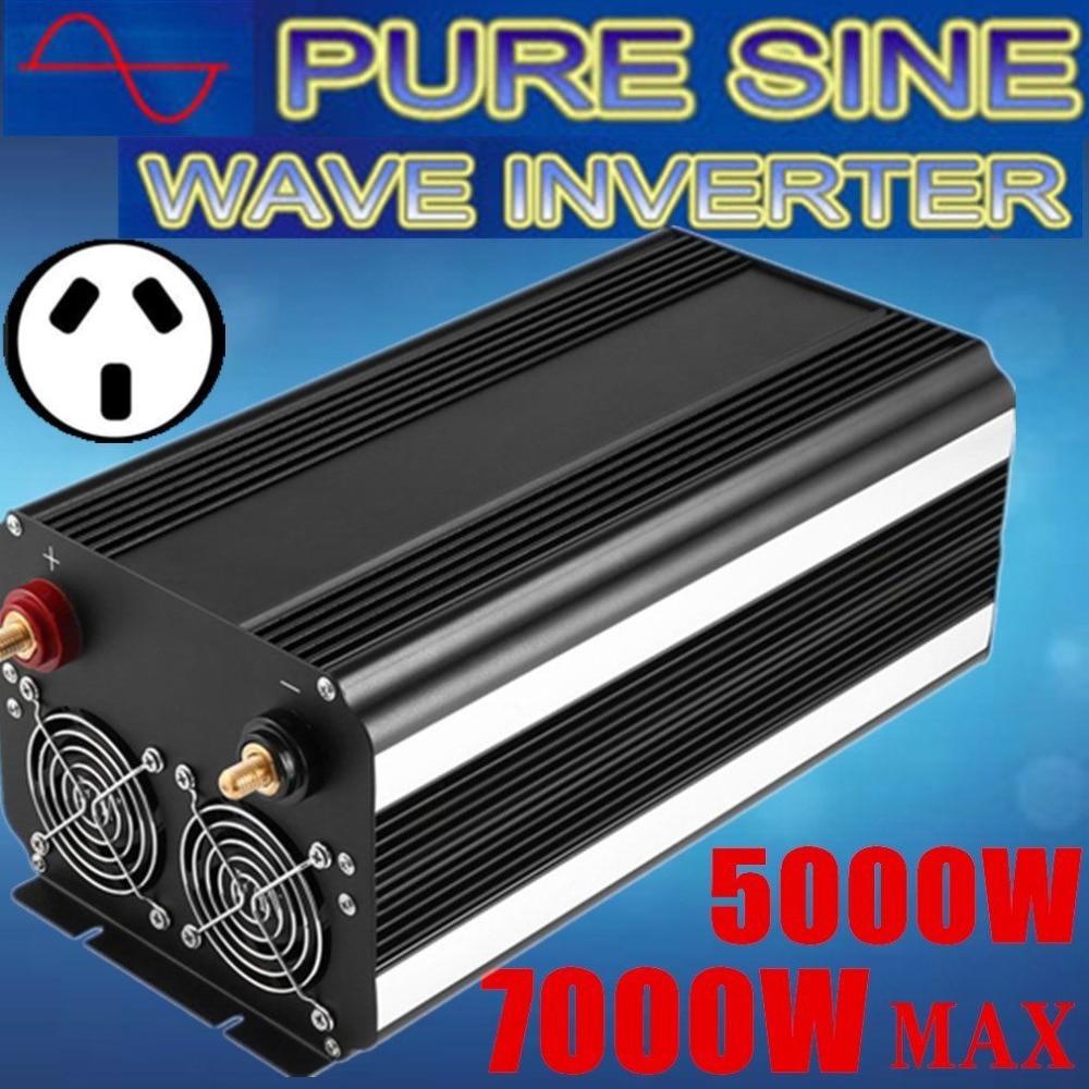 Plug UA 5000 w Onduleur Max 7000 w Sinusoïdale Pure Vague 12 v-240 v DE VOITURE CARAVANE NP