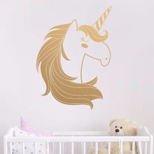 Cute Unicorn Decal Removable Vinyl Nursery Kids Wall Decals Bedroom Decoration Unicor Animal Home Art AY0134