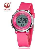 Children S Watches OHSEN Brand Kids Unisex Watch Rubber Backlight LED Digital Sport Shock Wristwatch Girls