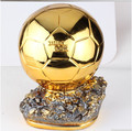 new style world cup 2014 Ballon D'OR Trophy for Sale 1:1 Resin Golden Ball Award  Golden Soccer Trophy Mr Football trophy