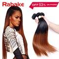 Ombre Brazilian Straight Virgin Hair 3Pcs Lot 1B 30 Two Tone Human Hair Bundles 10-30 Inch Mixed Length Iwish Hair Fast Deals