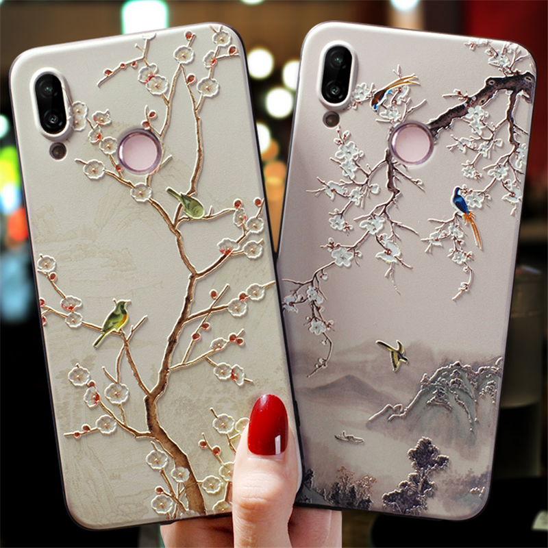 For <font><b>Huawei</b></font> P20 Lite TPU Case 3D Embossed Cover For <font><b>Huawei</b></font> P8 P9 P10 P30 P Smart 2019 Coque Mate 10 20 Lite Pro Nova 3 3i <font><b>Y6</b></font> <font><b>2017</b></font> image