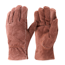 Free delivery 2 pairs cow suede leather-based gloves darkish brown full thinsulate lining security defending gloves key stone finger
