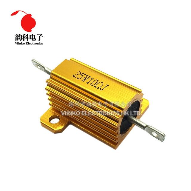 25W aluminiowa obudowa przypadku rezystor drutowy 0.01 ~ 30K 0.05 0.1 0.5 1 2 3 5 6 8 10 20 100 150 200 300 500 1K 10K ohm