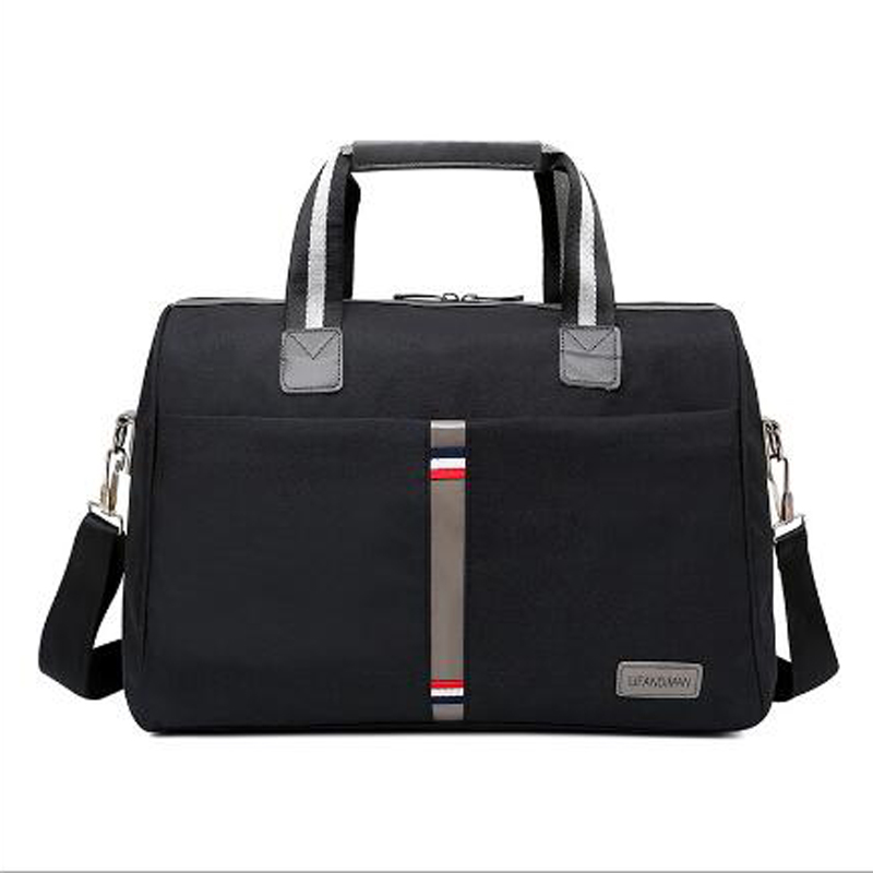 Fklee Mens Business Overnight Weekend Travel Bag Large Waterproof PU Leather Holdall Tote Bag Travel Carry On Duffles Bags Luggage Bags Handbag Shoulder Bags Travel Tote Luggage Bag Color : Black