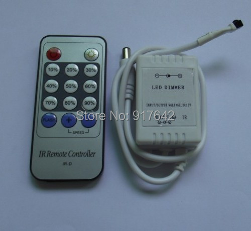 14keys IR Remote Dimmer 12/24V LED controller Free Shipping! wholesale!Hot!