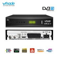 DVB T2 sintonizador de TV H.265 MPEG 2/4 tv Box HDMI 1080P DVB T3 de tv digital terrestre receptor decodificador incorporado scart Dobly dvb tv box