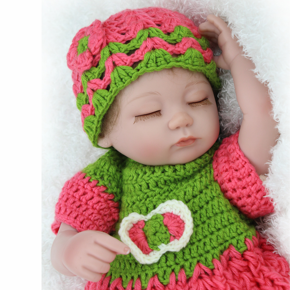 NPK Reborn Sleeping Baby Doll 16 inch Soft Silcone Limbs With Cloth Body Lifelike Baby Toys for Children Kids Gifts Wholesale ...