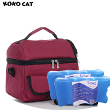 Double Layer Portable Multifunction Lunch Bag Thermal Food Picnic Bags for Women Cooler Box Mommy Milk 10 Colors