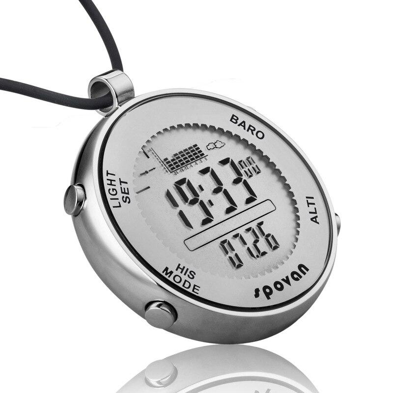 2019 nouveau paquet montre pour homme pêche en cours d'exécution numérique intelligente horloge en acier inoxydable pression d'air température militaire qualité Saat