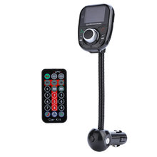 BT002 Bluetooth Car Kit Reproductor de MP3 FM Transmisor FM Modulador de Audio Inalámbrico Universal de Radio SD MMC + Control Remoto