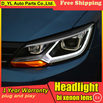 Car Styling Headlights for VW Lamando 2015 LED Headlight for Lamando Head Lamp LED Daytime Running Light LED DRL Bi-Xenon HID