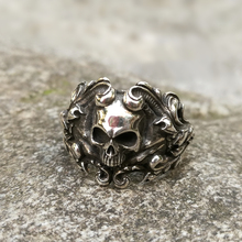 Baroque Skull Stainless Steel Rings Gothic Womens Ring Mens Punk Rock Biker Jewelry