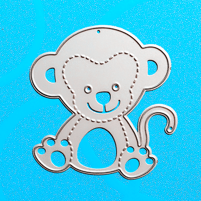 YLCD797 Monkey Metal Cutting Dies For Scrapbooking Stencils DIY Album Paper Cards Decoration Embossing Folder Die Cutter Tools in Cutting Dies from Home Garden