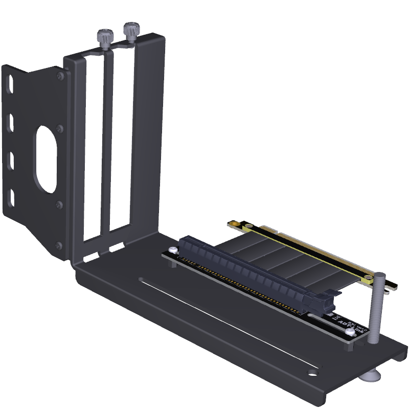 FormulaMod Graphics Card Vertical Holder With PCI Express Extension Cable , Fixed GPU PCI-E Built-in Vertical Bracket