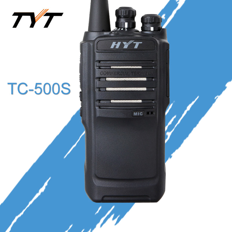 For HYT Radio HYT TC-500S Two Way Radio UHF 450-470MHz VHF 136-154MHz Walkie Talkie Waterproof Dustproof Portable Handheld Radio