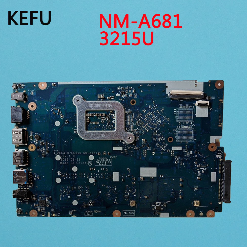 KEFU High quality Laptop motherboard for Lenovo Ideapad 100 15IBY 100 15IBD CG410 CG510 NM A681