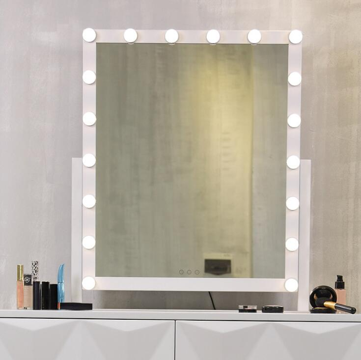 Hollywood Super Star Style LED Avoid the nail wall Vanity Makeup Mirror Lights of white yellow lights swap touch screen 18 bulbS