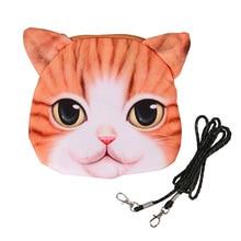 Nuevo gato lindo caso de la cremallera Monedero femenino cartera / bolso del niño Maquillaje Buggy bolsa del bolso, bolso del mensajero