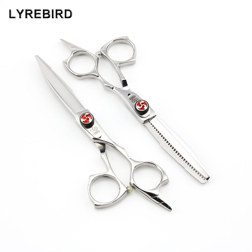 Professional Hair Scissors 5.5 INCH Hairdressing Scissors Hair Shears Europe Thinning Scissors Lyrebird HIGH CLASS 5SETS/LOT NEW lyrebird high class professional hair shears 6 inch big purple stone japan hair cutting scissors salon hair scissors f210 new
