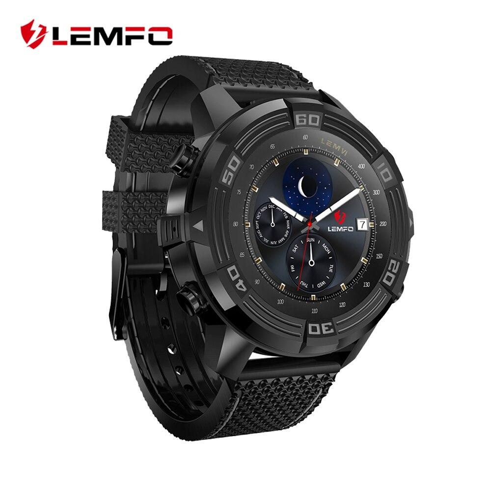 LEMFO LEM6 Смарт-часы Для мужчин Android 5,1 часы телефон IP67 Водонепроницаемый gps трекер 1 ГБ + 16 ГБ Smartwatch со сменным ремешком