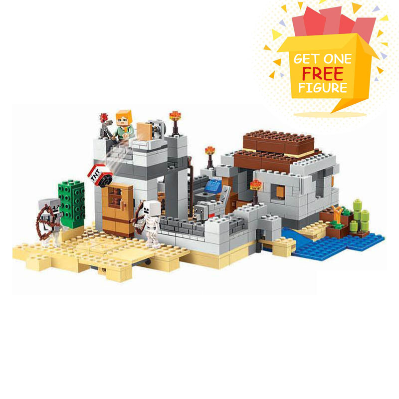 Bela Compatible Legoe Minecrafte The Desert Outpost My World Zombies Building Blocks Bricks toys for children 2018 new bela 10072 chimaed fierce apes god beast building block 109pcs diy educational toys for children compatible legoe